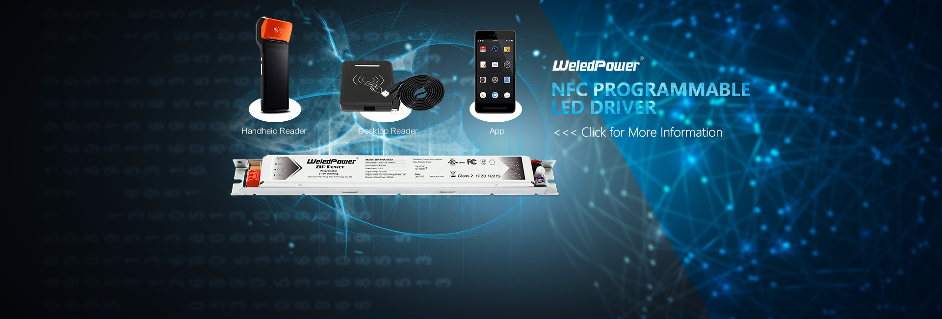 NFC programmable led drivers