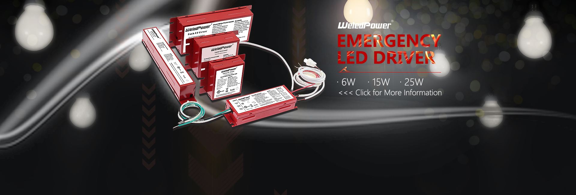 small size led emergency driver lighting system